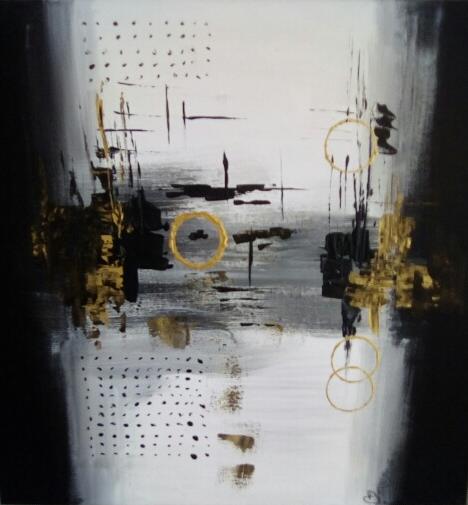 Exposition d'œuvres modernes abstraites |