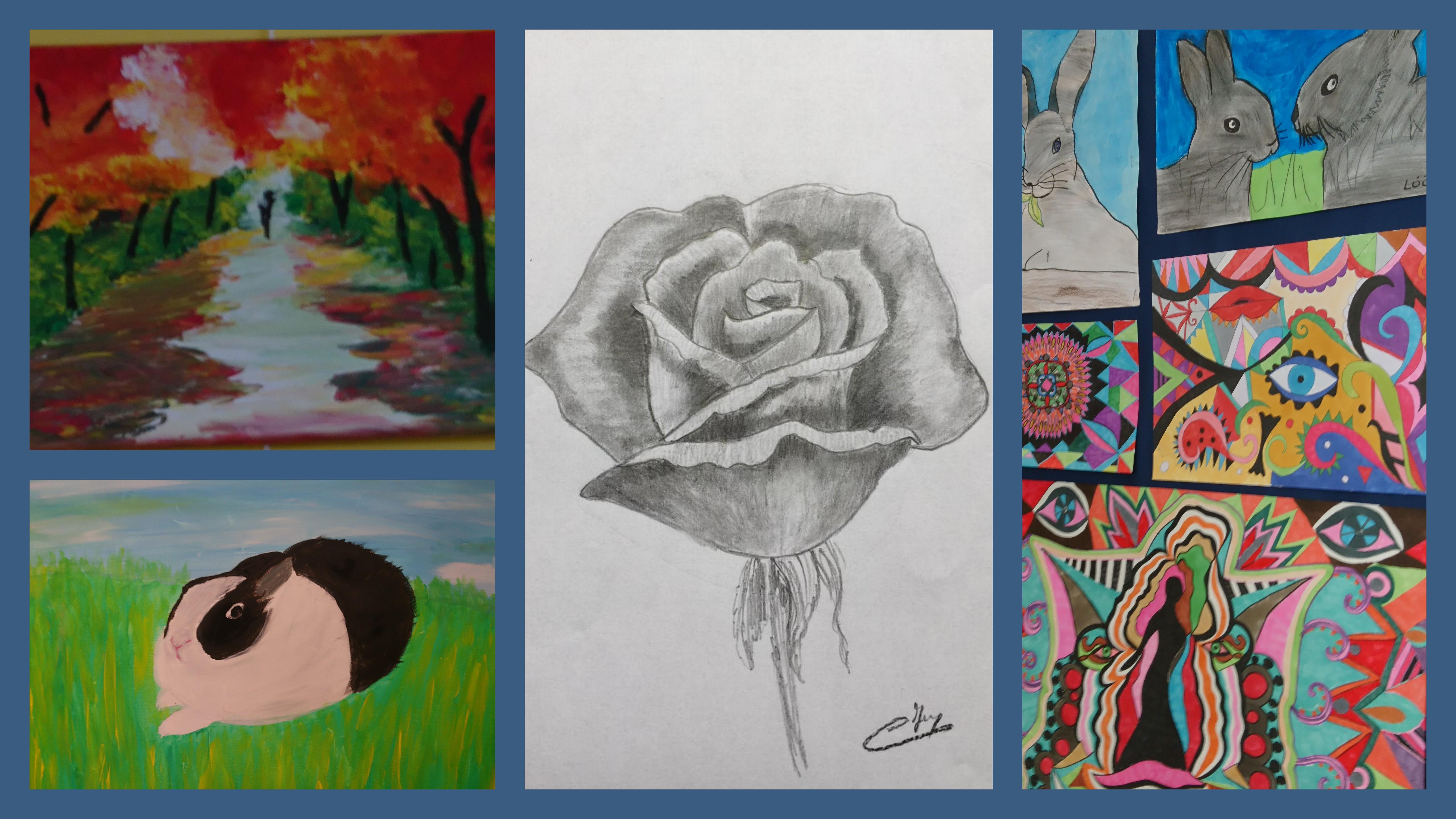 Exposition de dessins et peintures |